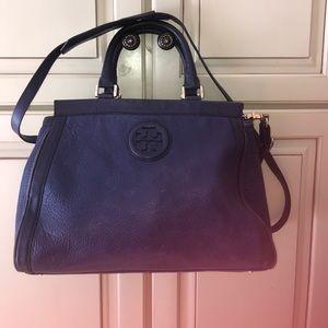Well loved blue Tory Burch satchel bag Iris